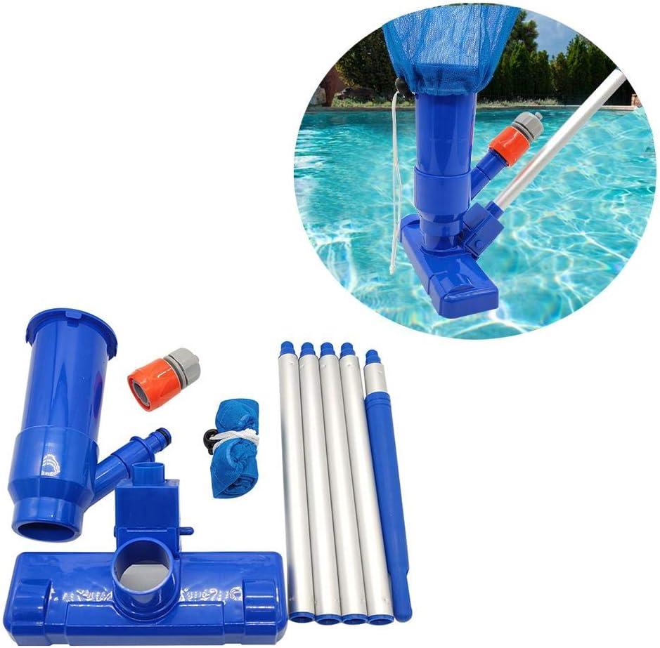 Poolreinigung Bodensauger mit 4ft Stange,Reinigungsset Pool Set Schwimmbecken Zubeh/ör Earthily Pool Bodensauger