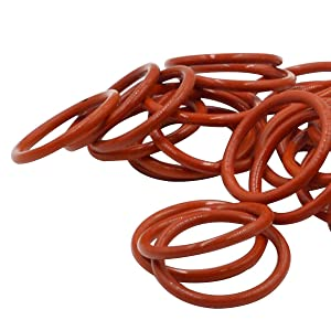 100pcs 20mm OD 16mm ID 2mm Dia Food Grade Silicone Rubber Seal O-Ring Red