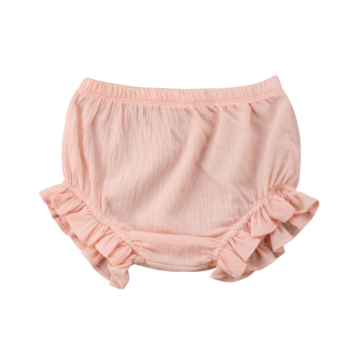 Mornbaby Baby Girl's Bloomers Cotton Ruffle Panty Diaper Covers Underwear Shorts Toddler Kids Girls (Pink, 2-3 Years) by Mornbaby (Image #1)