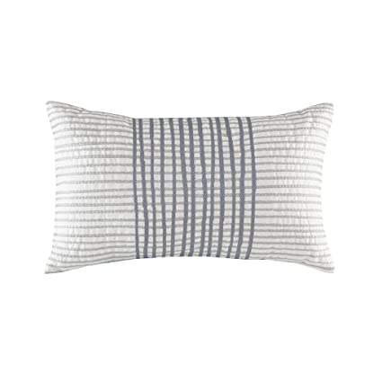 Amazon Bishop Cotton Embroidered Modern Throw Pillow Mid Beauteous White Oblong Decorative Pillow