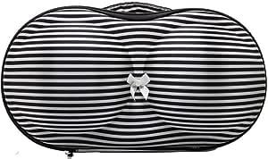 حقيبة حفظ وتنظيم صدرية للنساء بتصميم مخطط ابيض و اسود
