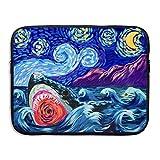Business Briefcase Sleeve Shark Painting Laptop Sleeve Case Cover Handbag For 15 Inch Macbook Pro Air Lenovo Samsung