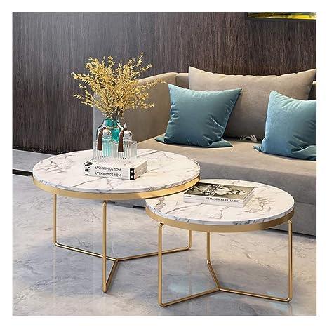 Tremendous Amazon Com 2 Piece Modern Round Coffee Table Simplistic Frankydiablos Diy Chair Ideas Frankydiabloscom