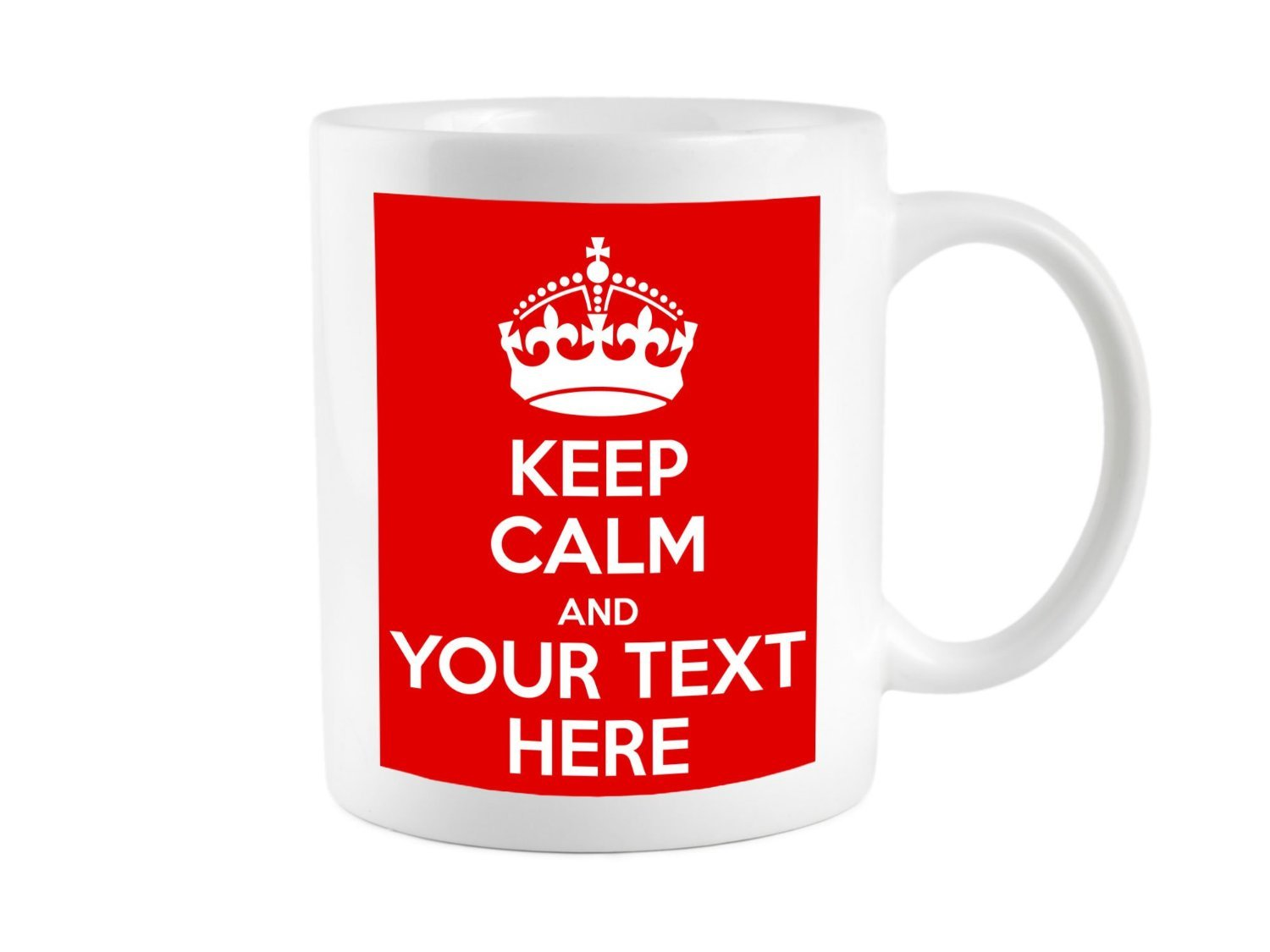 da285d825fa75 KEEP CALM AND CARRY ON PERSONALISED WITH ANY TEXT GIFT MUG CUP RETRO   Amazon.co.uk  Kitchen   Home