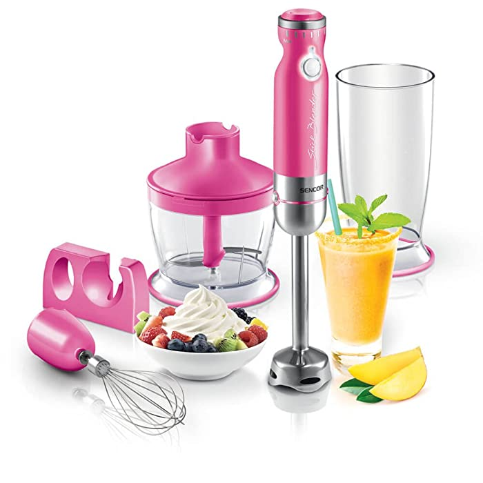Sencor SHB4368RS Stick Blender With Accessories, Large, Pink