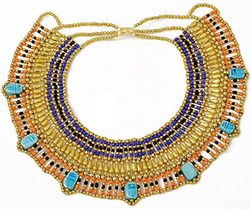 Cleopatra Egyptian Collar Necklace Design Costume Accessories Halloween]()