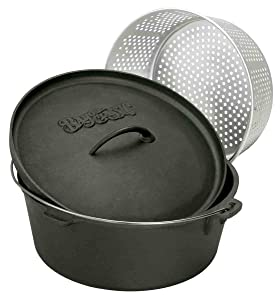 Bayou Classic 7460 Dutch Oven with Basket, 8-1/2-Quart