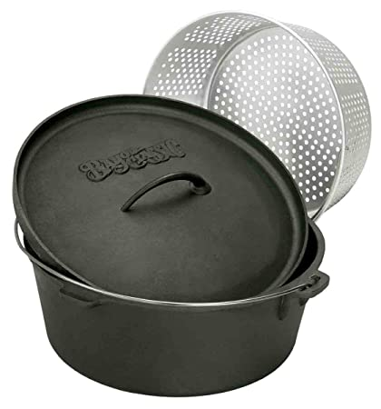 Bayou Classic 7460 Dutch Oven with Basket, 8-1 2-Quart