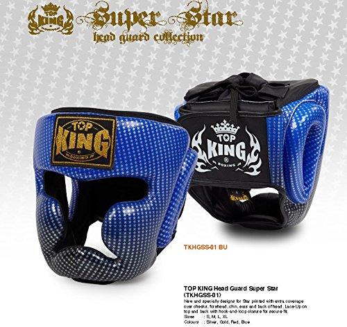想像を超えての トップキング B00RB9VQS8 TOP KING キックボクシング ヘッドギア スーパースター ヘッドギア 青 青 Sサイズ B00RB9VQS8, ベビーチャイルド リスヤ:dcd7545c --- a0267596.xsph.ru