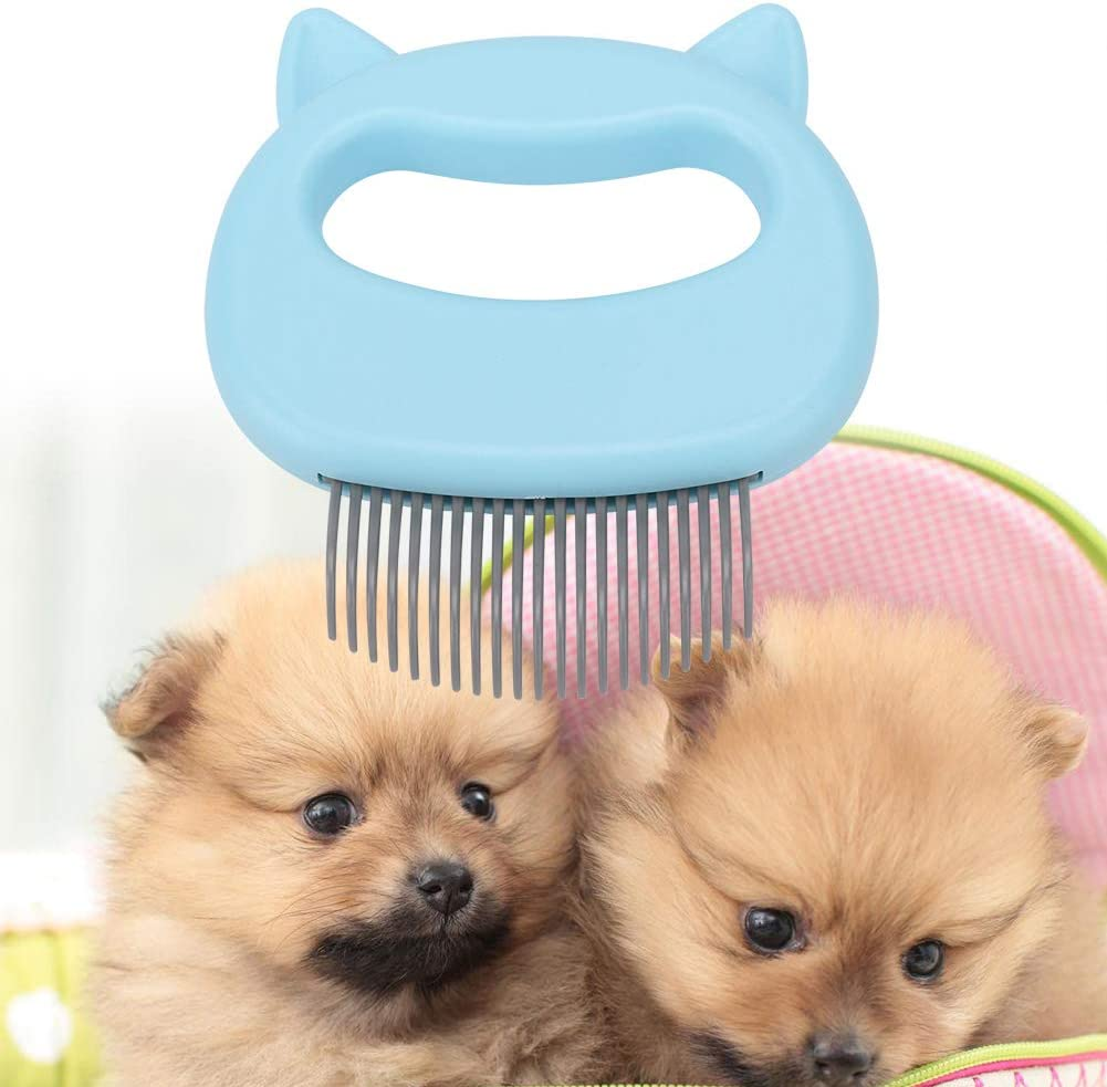 Pink Pet Comb,Pet Lice Comb Pet Cat Dog Massage Shell Comb Grooming Hair Removal Shedding Cleaning Brush for Safe /& Gentle DIY Dog /& Cat Grooming