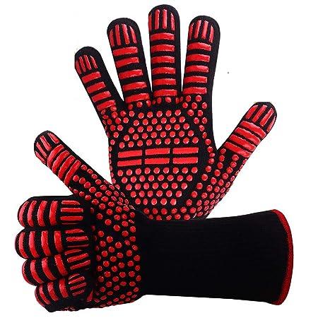 Guantes resistentes al calor para barbacoa, guantes de silicona ...