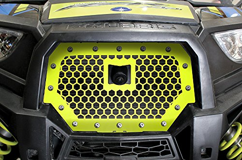 300 Industries Steel Grille Replacement for Polaris RZR XP 1000 Ride Command 2017 - Single Piece Powder Coated Lime Squeeze - Hex