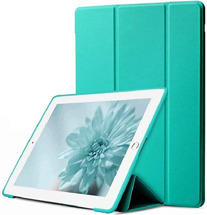 DuraSafe Cases for iPad Air 2 Gen 2014 9.7 Inch [ A1566 A1567 ] Soft Silicone Back (for Extra Shock Protection) Ultra Slim Smart Cover Auto Sleep/Wake - Green
