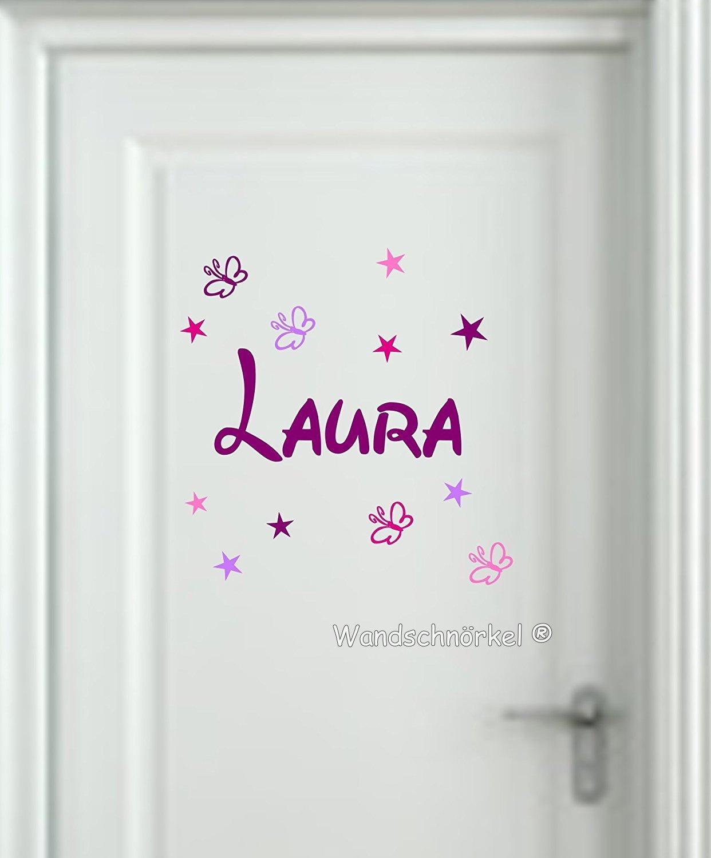 Wandtattoo Kinderzimmer 2810 Lila Mix ++Aufkleber mit dem Namen ...