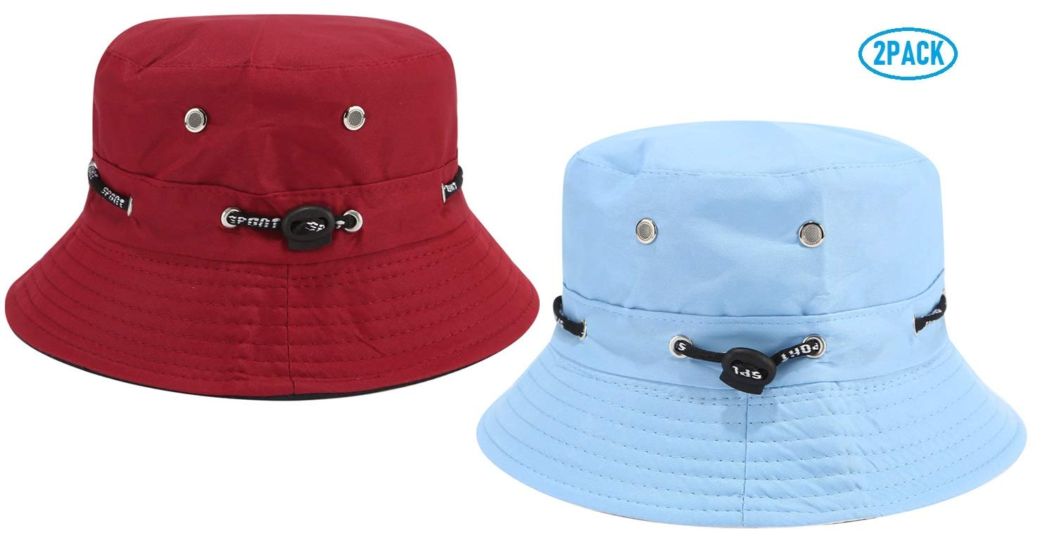 Hemuu 2 PCS Fishing Hats//Sombrero para Sol de ala Ancha Sombrero Plegable de Pesca al Aire Libre Gorra Sombrero de Pescador Cap