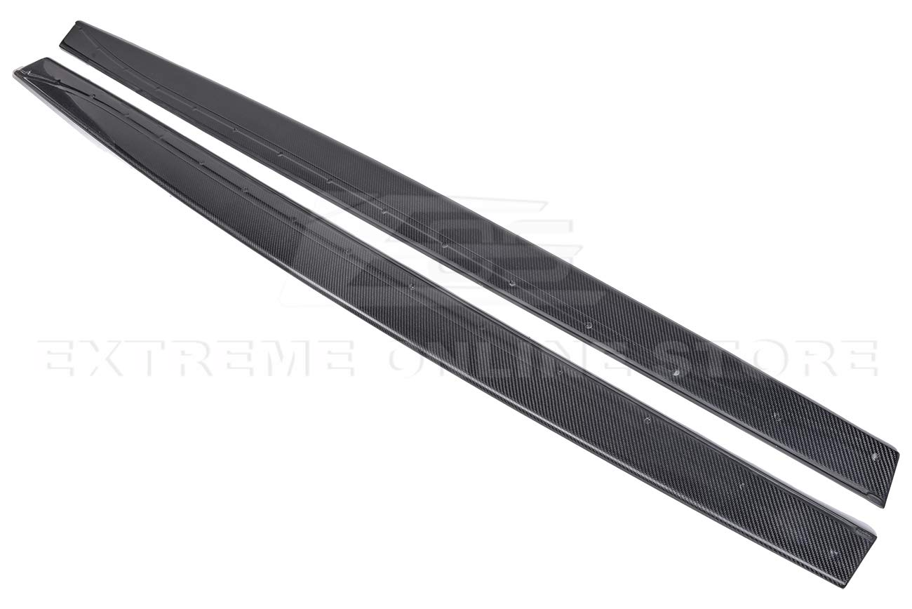 Extreme Online Store Replacement for 2015-Present BMW F82 M4 EOS M-Performance Style Carbon Fiber Side Skirt Rocker Panels Extension SS-120-BKCF