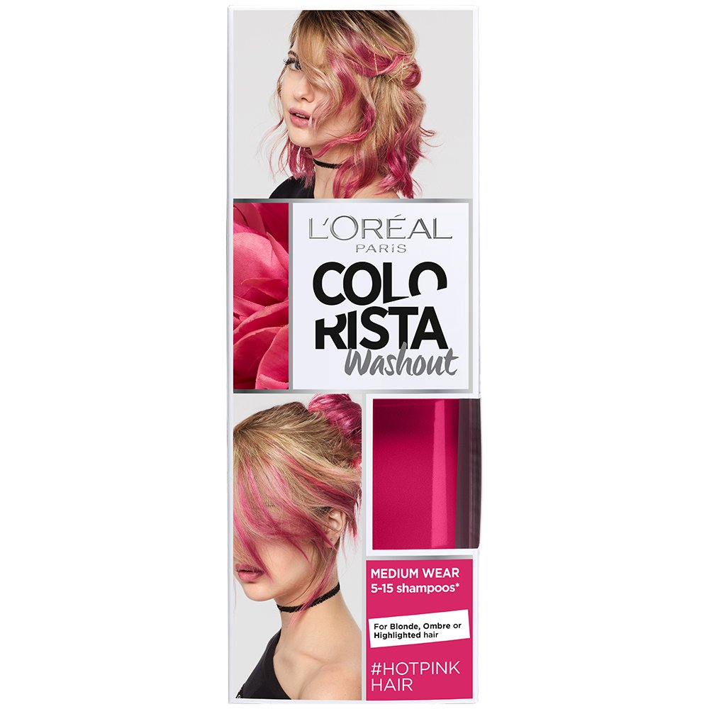 LOreal Paris Colorista Coloración Temporal Tono Washout Hot Pink Hair - 116 gr product