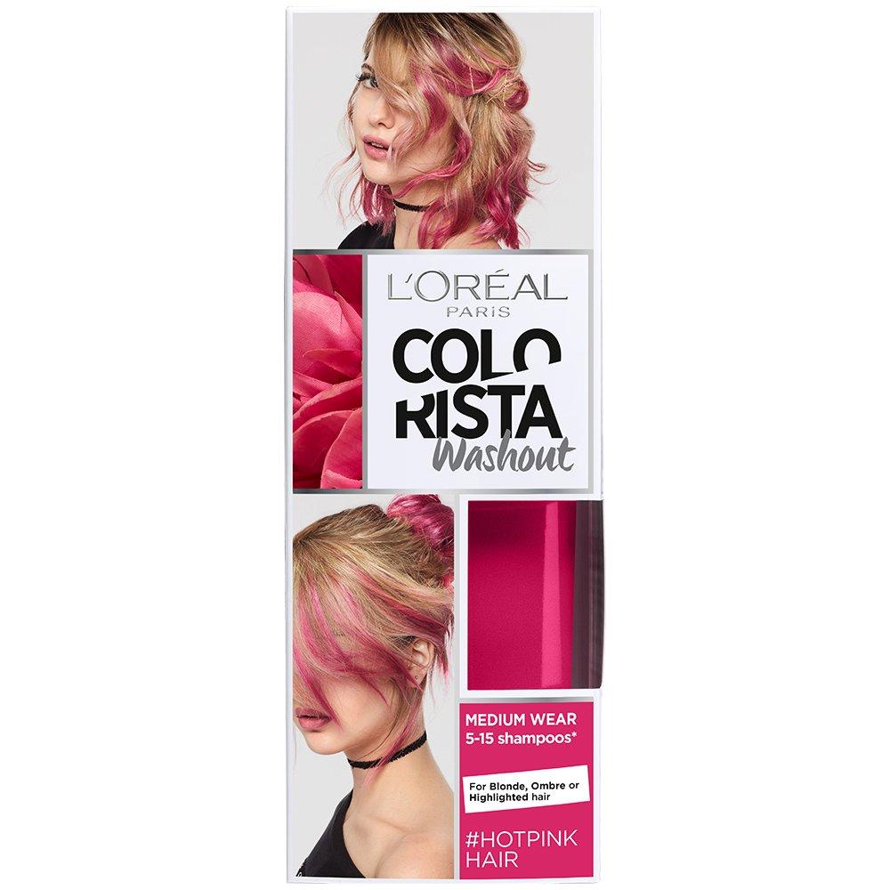 LOreal Paris Colorista Coloración Temporal Tono Washout Hot Pink Hair - 116 gr product