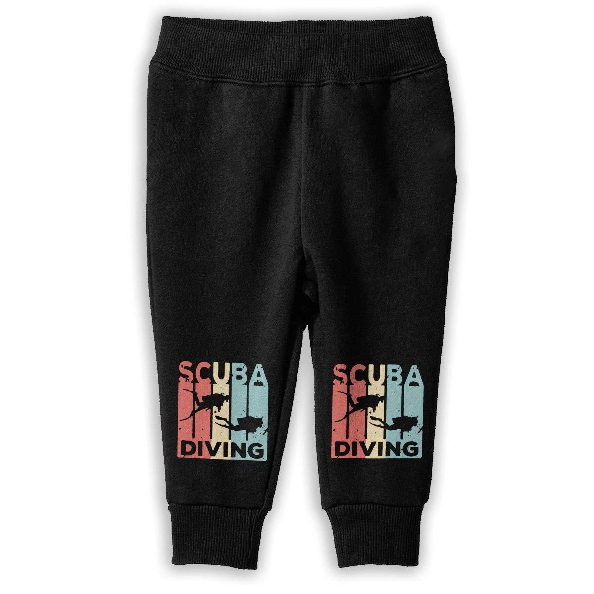 Little Girls Sport Jogging Pants Retro Scuba Diving Vintage Sweatpants