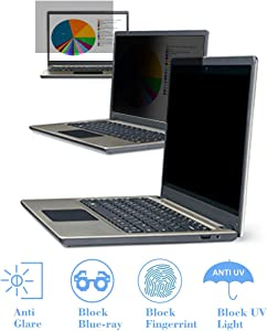 "KEANBOLL 15.6 Inch Laptop Privacy Screen Filter-Anti Glare & Anti Blue Light Screen Protector for 15.6"" All Brands of Laptop with Display (Size: 13.6"" Width x7.6 Height)"
