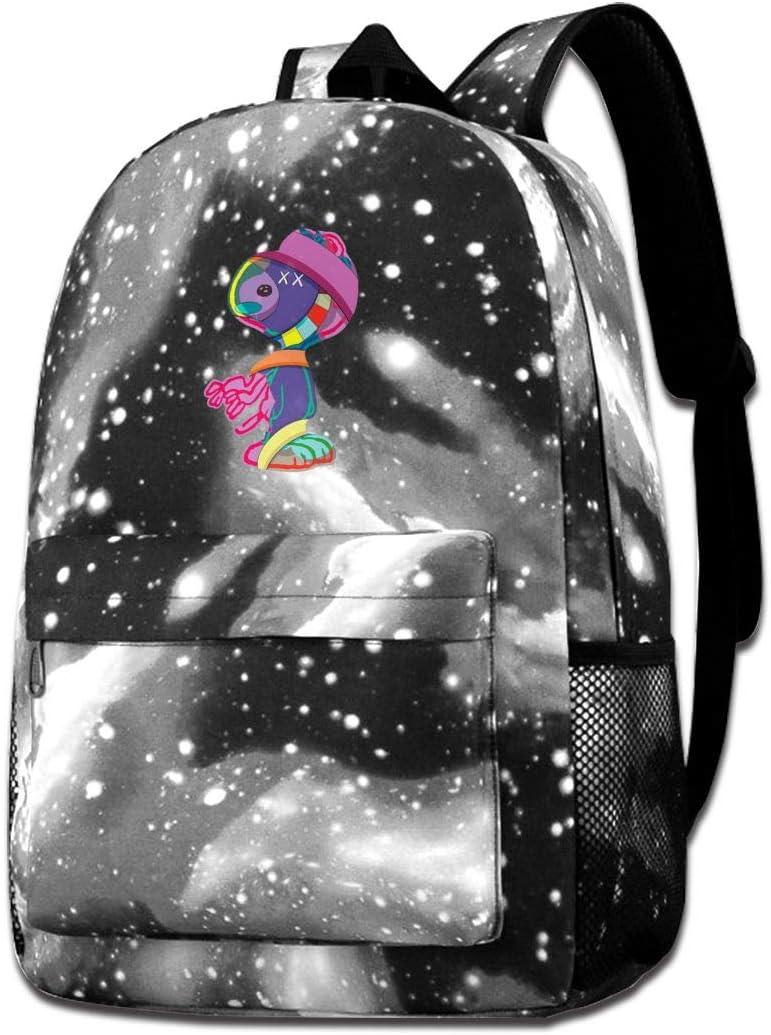 Galaxy Backpack Kaws Funny Starry Sky Multi-Function Bookbag Laptop Shoulder Bag For Boys/&Girls
