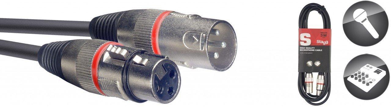 Stagg Rouge 3 m C/âble Microphone XLR et