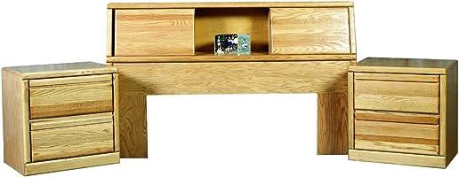 Editors' Choice: Forest Designs Bullnose Bookcase Headboard: 80W x 42H x 12D No Nightstands E King Golden Oak