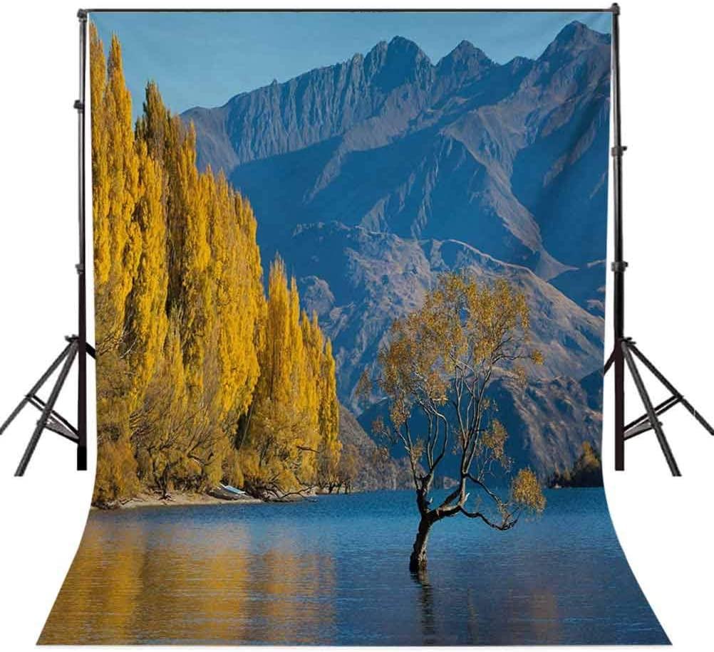 Sunken Tree Lake on Mountain Range Exquisite Rural New Zealand Scenery Background for Photography Kids Adult Photo Booth Video Shoot Vinyl Studio Props Nature 6.5x10 FT Photography Backdrop