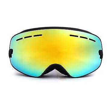 4f32a9442c HiCool Lunettes de Ski pour Enfant avec Extra-large Lentille Détachable Antibuée  Anti-UV