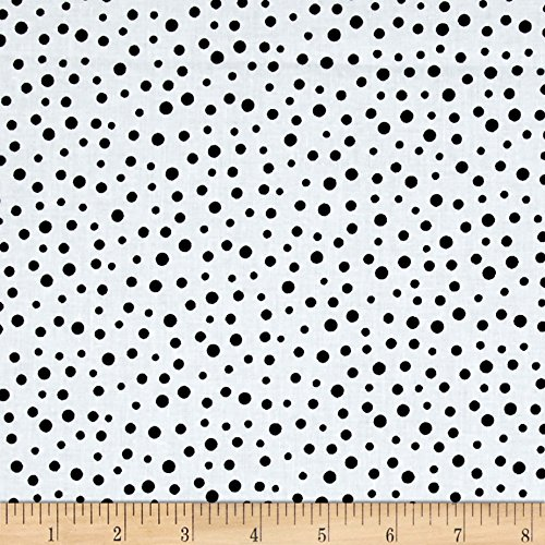 (Hamil Textiles Susybee Irregular Dot Fabric by The Yard, White/Black)