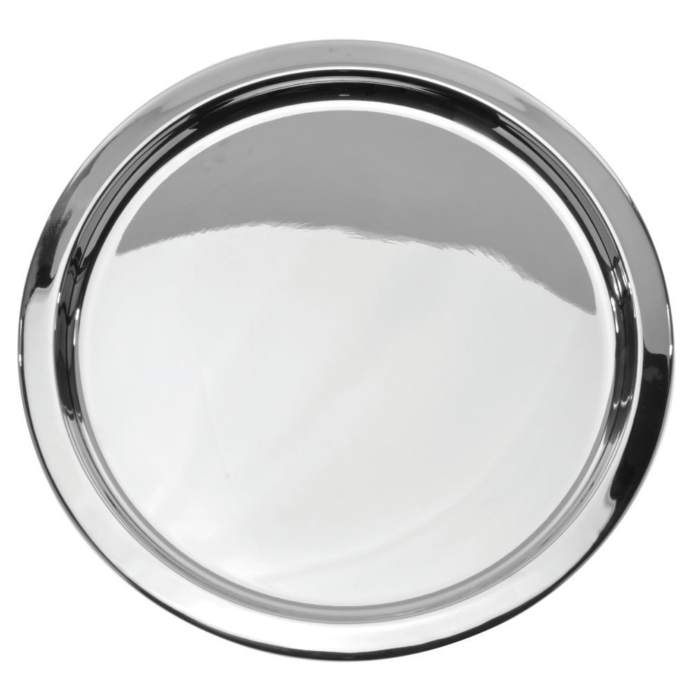 """8/"""" Silver Round Tray"""