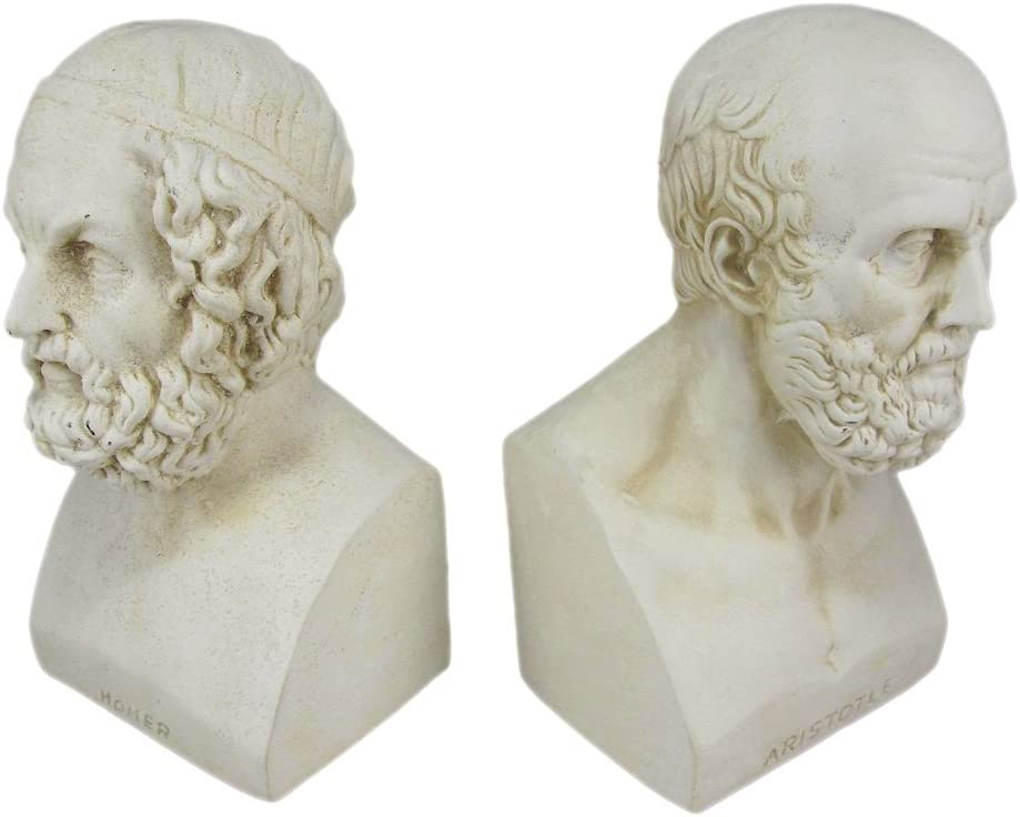 Amazon.com: House Parts Aristotle and Homer Bust Bookends Greek Philosophy:  Home & Kitchen