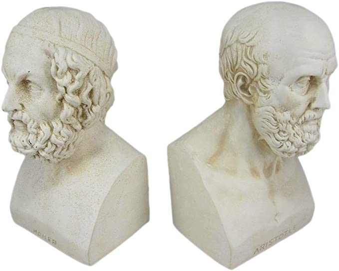 House Parts Aristotle and Homer Bust Bookends Greek Philosophy