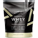 Amazon Brand- Amfit Nutrition - Advanced Whey Protein Powder Vanilla, 64 Servings, 1984 g