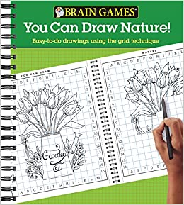 Amazon Com Brain Games You Can Draw Nature Easy To Do Drawings