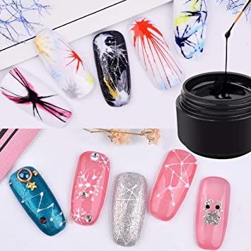 Beauty & Health Nice 6 Colors Innovative Spider Glue Nail Phototherapy Glue Stretching Drawing Silk Painted Plastic Pull Flower Line Nail Polish Gel