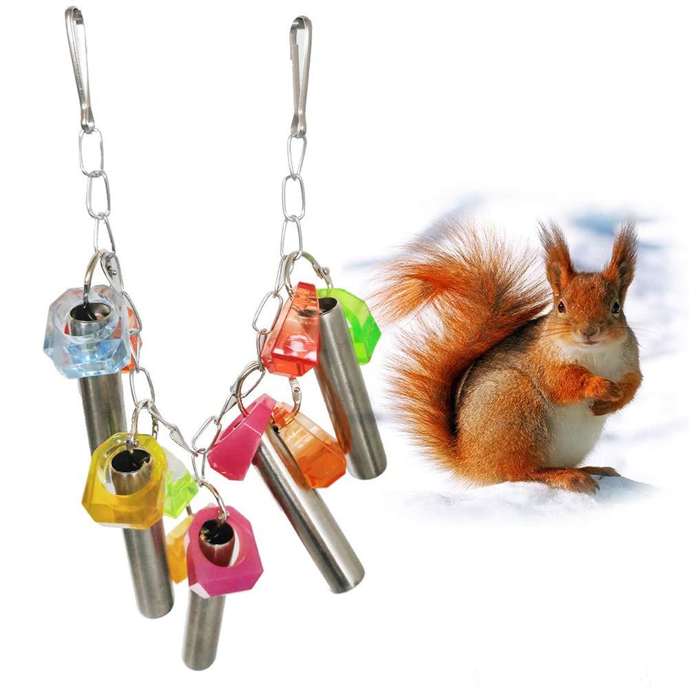 Yimosecoxiang Juguete Colorido para Mascotas, con Forma de Jaula ...