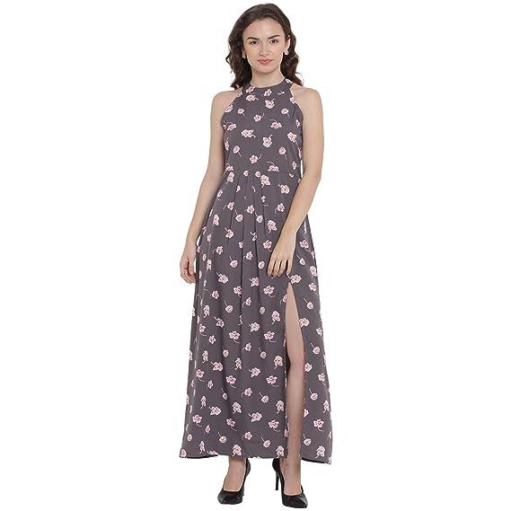 colore n brillante qualità affidabile Nuovi Prodotti Buy Abiti Bella Women's Crepe Grey A-line Dress at Amazon.in