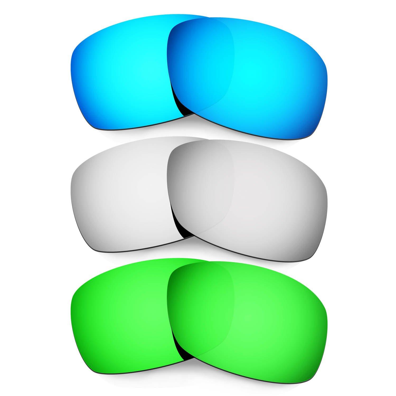 85% OFF Hkuco Plus Mens Replacement Lenses For Oakley Hijinx  Blue Titanium Emerald 3698aee0b9