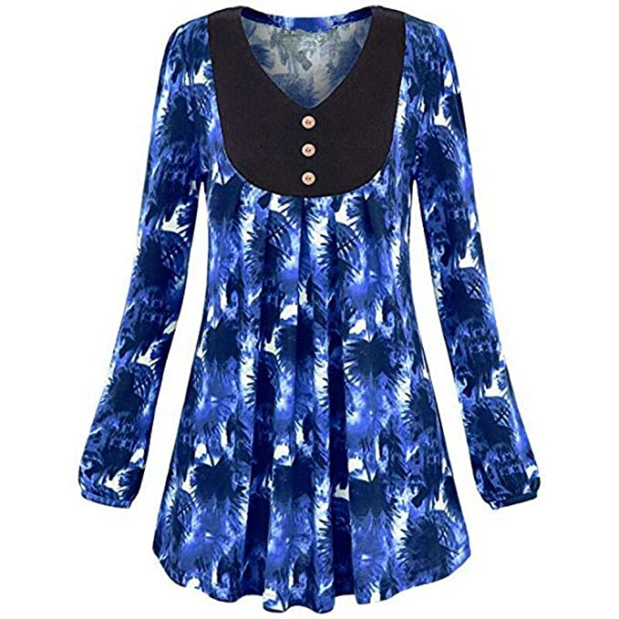 ASHOP Ropa Mujer, Sudaderas Mujer Tumblr Cactus Blusas Invierno Tops Deporte (Azul,S