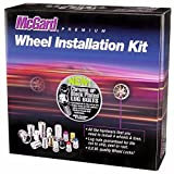 McGard 67226BK Chrome/Black M14 x 1.25 Thread Size Cone Seat Lug Bolt Wheel Installation Kit for 5 Lug Vehicles
