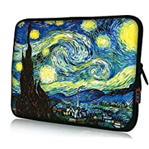 "ICOLOR Neoprene Laptop Case Waterproof Sleeve Bag Pouch for 16"" 17"" 17.4""Pro/HP/Acer/Dell/Asus/Samsung Notebook Hurricane"