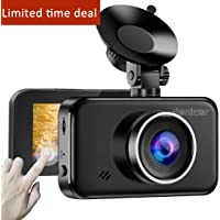 Denicer Sliding Touch Screen Full HD 1080P DVR Dash Camera for Cars Recorder, 170 Wide Angle, Parking Monitor, WDR, Motion Detection, G-Sensor, Loop Recording