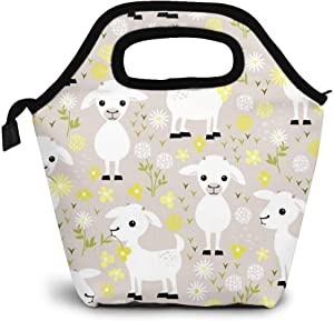 HMYATSO Insulated Lunch Bag Reusable Food Organizer - Baby Goats