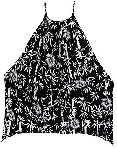 LA LEELA Soft Fabric Swimwear Women Cover Up OSFM 14-16 [L-1X] Black_1912