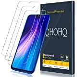 [3-Pack] QHOHQ Screen Protector for Xiaomi Redmi Note 8,Redmi Note 7,Redmi 7,[9H Hardness] HD Transparent Scratch-Resistant [Bubble Free] Tempered Glass