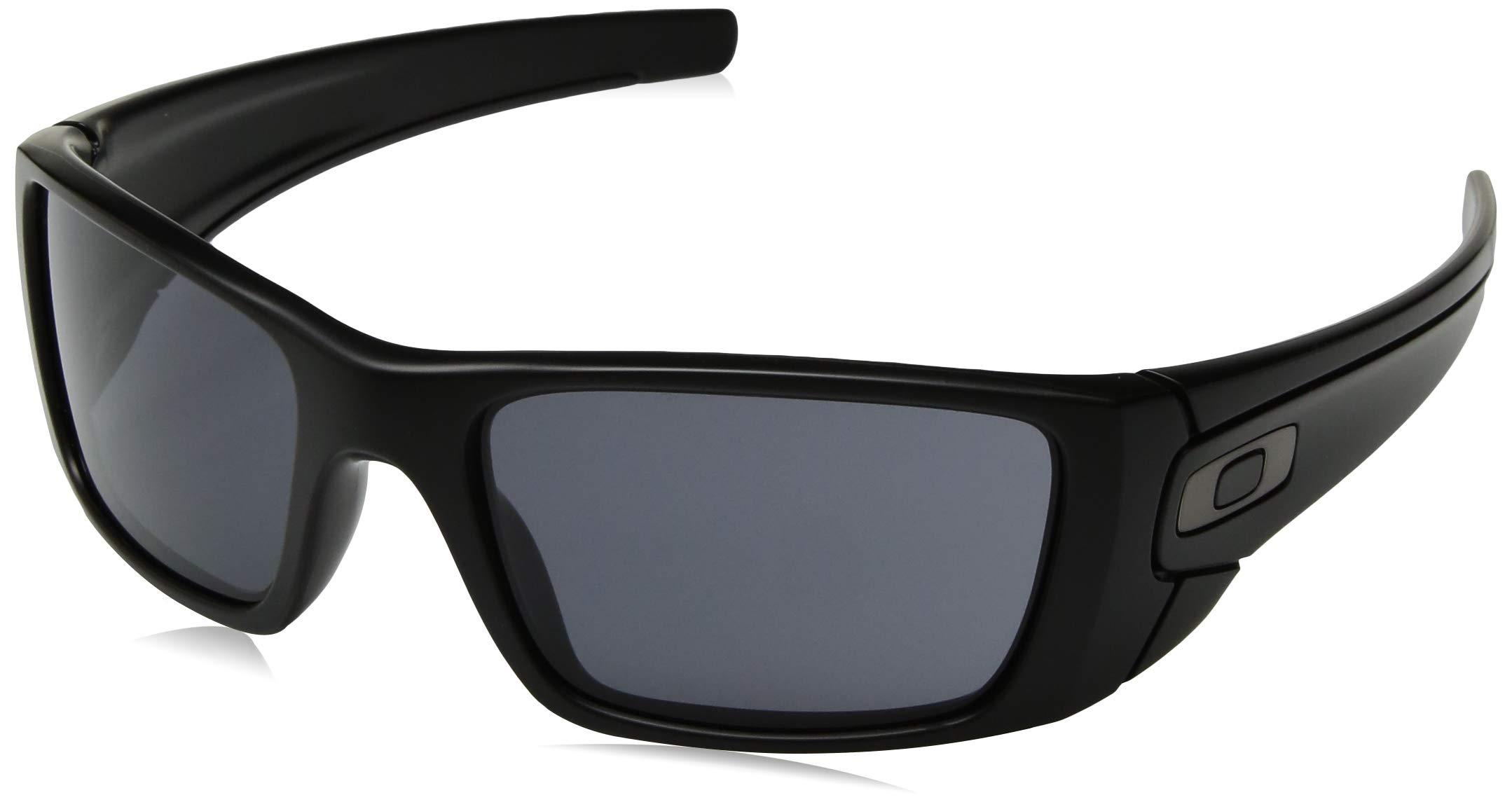 Oakley Men's OO9096 Fuel Cell Rectangular Sunglasses, SI Matte Black/Grey, 60 mm by Oakley