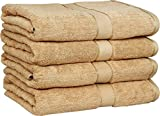 Utopia Towels 30x56 Inches Luxury Cotton Bath Towels, 4 Pack, Beige