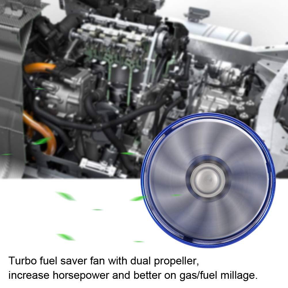 Double chargeur de turbine de ventilateur dadmission dair de voiture Super chargeur /économiseur dessence de carburant Turbo Noir