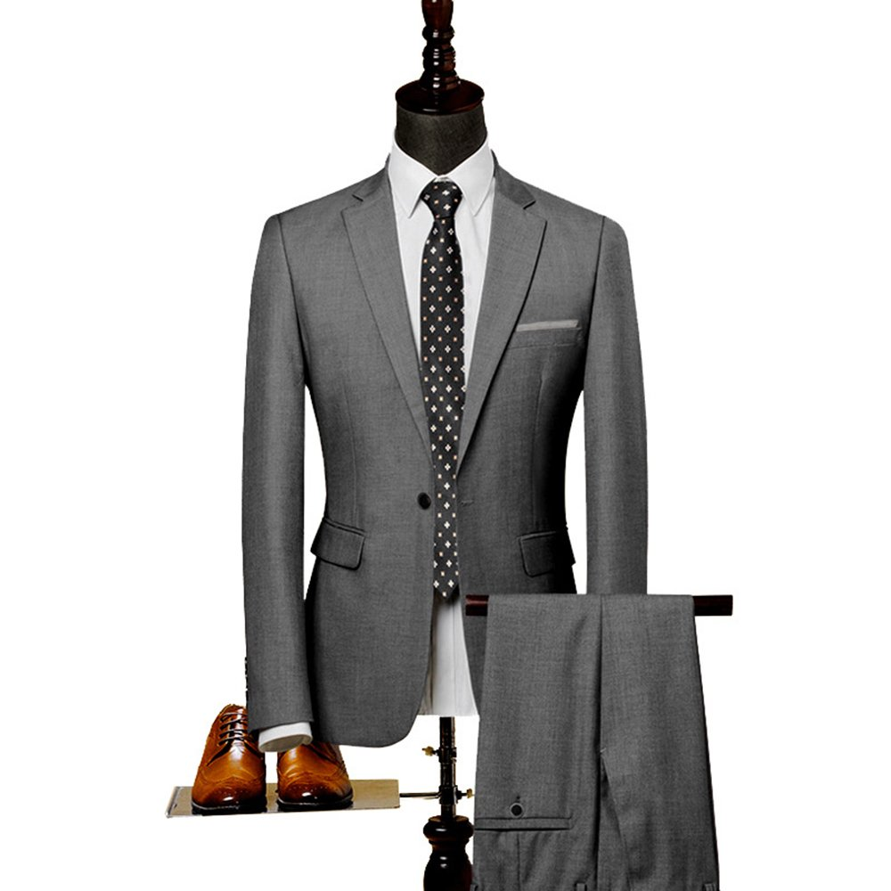 Fashionmy Men Suits 2 Pieces Wedding Prom Dresses Businesss Gentleman Suit Bridegroom
